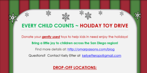 Every Child Counts – Holiday Toy Drive