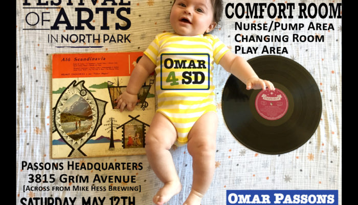 North Park Festival of Arts (5/12) – Parent Comfort Room & Kids' Play Area!
